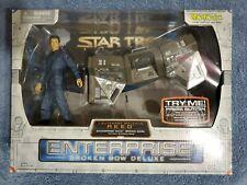 Star Trek Enterprise Broken Bow Malcolm Reed Figure & Bridge Station