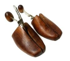 Two Way Shoe Stretchers Vintage Pair Wooden Wood Metal Adjustable Antique
