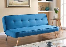 New Sofabed Fabric 3 Seater Padded Sofa Bed Suite Designer Fabric Buttons