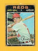 4705  1971 Topps #100 Pete Rose CINCINNATI REDS LOW GRADE CARD BK$60