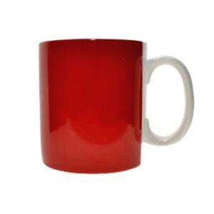 WM.Bartleet & Sons 1 Pint Porcelain Red Large Mug Cup Coffee Tea