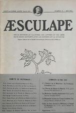 Aesculape n°5- 1931 : L'Art et la Médecine (Voir Sommaire Photo)