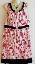 Womens Ladies Jacqui E Lined Dress Red and White Size 16 US 12 EU 44
