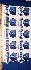 Lot of 10 Memphis Grizzlies team Logo VINYL Stickers