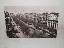 Vecchia cartolina foto d epoca di PARIS Avenue des Champs Elysees 1954 via da
