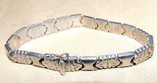 "Designer ""P.R. EX"" Italy Sterling Silver .925 Bracelet 7.5""L 3/8""W 17.8g"