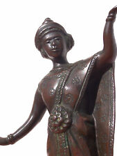 Elègante sculpture bronze danseuse Cambodge XIX Antique Asia art cambodia dancer