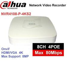 Dahua 4K NVR NVR4108-P-4KS2 8ch with 4PoE ports replace NVR4108-P