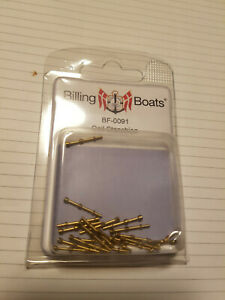 BILLING BOATS - BF-0091 Rail Stanchion (20) 17mm 2 hole BRAND NEW Brass