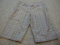 Women's ADIDAS plaid bermuda shorts, 10