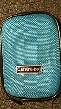 CamEra-bag Blue Digital Camera Case Zip Textured/Photo/Picture/Travel/Holiday