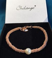 Original *Chilango*  Armband SPARKLING STARS 925/-Silber pinkplated Pearl white