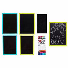 Double Sided Chalk Board and 3 Chalks - Thin Blackboard Colour Learning Aid