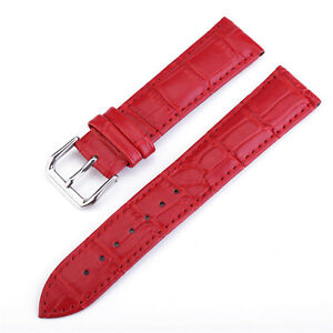 Crocodile Strap Cowhide Leather Watch Band 10-22 24mm Wristwatch Bands Bracelet