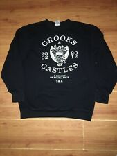 Crooks & Castles Medusa Men's Knit Crew Neck Sweatshirt Black XL