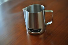 Stainless Steel Milk Frothing Jug Picher with Integrated Thermometer Pro Coffee