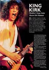 Metallica Kirk Hammett Guitarist Interview Clipping TRANSPARENCY