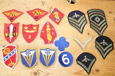 Vintage lot of Military Patches including Army Services Forces WW2 Badges #13