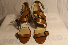 Zara Basic Tan Heels with straps and buckles. Tan new with defects #2623
