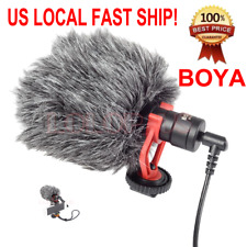 Boya BY-MM1 Shotgun Video Microphone for iPhone Canon 80D T6I T7I D5500 D3400 D5