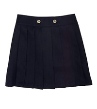 New French Toast Girls' Front Button Pleated Scooter - Navy 14