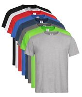 Mens Organic Cotton Casual Fit BLUE GREY WHITE GREEN BLACK RED Tee Shirt T-Shirt