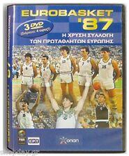 Eurobasket 1987 3 DVDs Set Greek Champions Gkalis Giannakis Fasoulas Basket '87