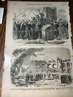 Antique 1861 Civil War Newspaper Page Baltic Ship Major Anderson Fort Sumter