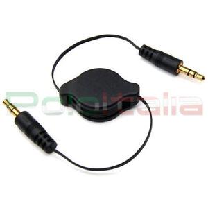 Câble Audio Jack Aux Rétractile Retractable Retractile Hautparleur Stéréo Pour