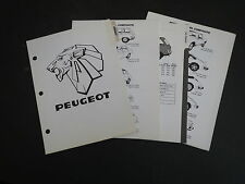 1971 - 1975 PEUGEOT 304 504 MODELS DEALER ALBUM REFERENCE SPEC SHEETS SET