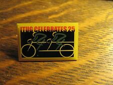 ITUG Tandem Telecommunications Group Bicycle Celebrates 25 Logo Lapel Hat Pin