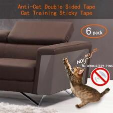 New Pet Cat Scratch Guard Furniture Protectors Self Adhesive/ Twist Pin 6 Pack