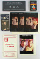 Vtg 1970s-80s STAR TREK TOS Lot SPOCK KIRK Patch Stamps Cards Cook Book Greeting
