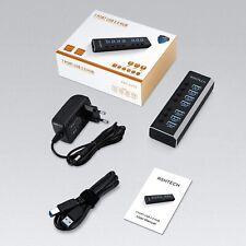 USB Hub Aktiv 3.0 mit 24W (12V 2A) Netzteil 7 Ports USB 3.0 Hub