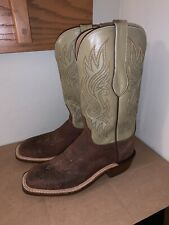 New! Lucchese Norman Chocolate Wild Boar Cowboy Boots - CY3510 W3LS - 9.5