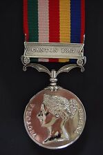 SILVER SECOND CHINA WAR MEDAL  . ON FIRST ISSUE RIBBON