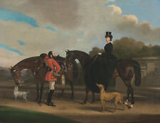 Lord and Lady Twemlow William Barraud Pferde Reiter Adel Hunde Park B A3 03476