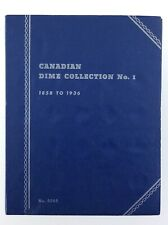 Canadian Dime Collection 1858 - 1936 Whitman Blue No. 9065 Empty Coin Book T537