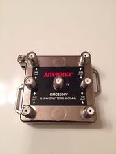 Antronix digital ready 6 way TV splitter for CATV, cable and antenna CMC2006V