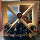 Wine Enthusiast 24 Bottle* Compact Cellar Cube / Wine Rack, Natural Wood photo