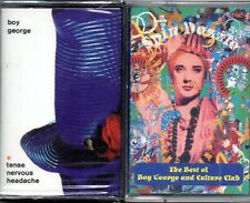 BOY GEORGE 2 Musicassette The best of spin dazzle --Tense Nervous Headache NUOVE