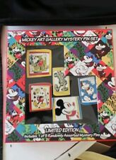 Disney Pin Mickey Art Gallery Mystery Set LE 1000 includes Bonus Mystery pin