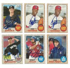JOSE TAVERAS Signed/Autographed 2017 TOPPS HERITAGE MINORS CARD Phillies #113