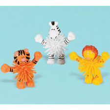 JUNGLE ANIMALS WOOLY ANIMALS (8) ~ Birthday Party Supplies Favors Toys Plastic