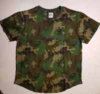Men's Tiger Shvrk Mission 7 Camouflage Scoop T-shirt Camo Size Large NWT Shark