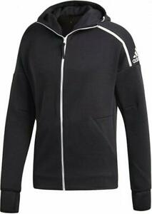 Adidas Men's Z.N.E Jackets and Coats Black Adult Hoodie Full Zip Track XXL
