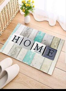 Home Door Mat Letter Graphic Non Slippery Indoor Floor Mat (40x60 Cm)