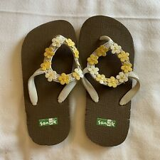 Sanuk Kids Girls Sz M (12-13) Slide-On Sandals Slippers Shoes