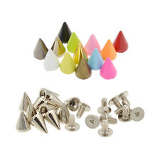 DIY 7mm Cone Metal Bullet Studs Rivet Alloy Spike Spots Screwback Leathercraft
