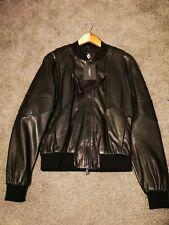 Marcelo Burlon Leather Bomber Jacket 100% Lambskin £975 rrp Harrods size small